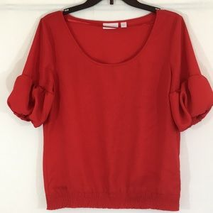New York & Co Red Shirt